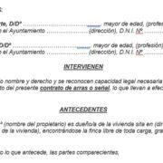 modelo contrato de arras